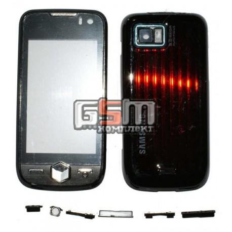 Корпус для Samsung S8000 Jet, S8003, черный, high-copy