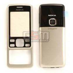 Корпус для Nokia 6300, серебристый, high-copy