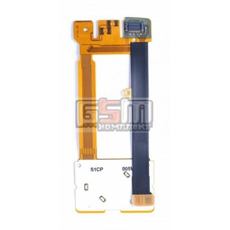 Шлейф для Nokia 3600s, оригинал, межплатный, с компонентами, с верхним клавиатурным модулем, (0210048)