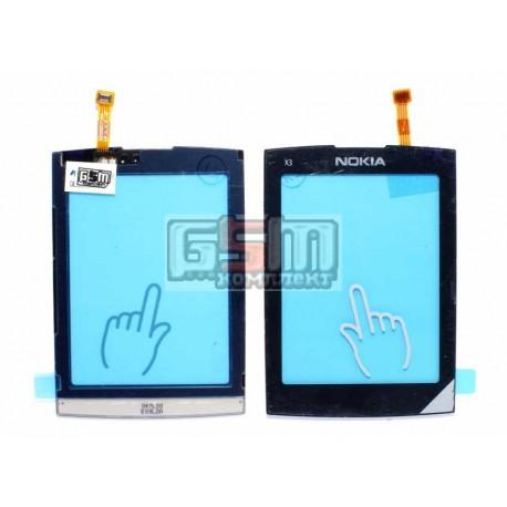 Тачскрин, сенсор для Nokia X3-02, оригинал, черный, (4870192)