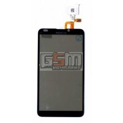 Тачскрин для Nokia E7-00, черный, с рамкой