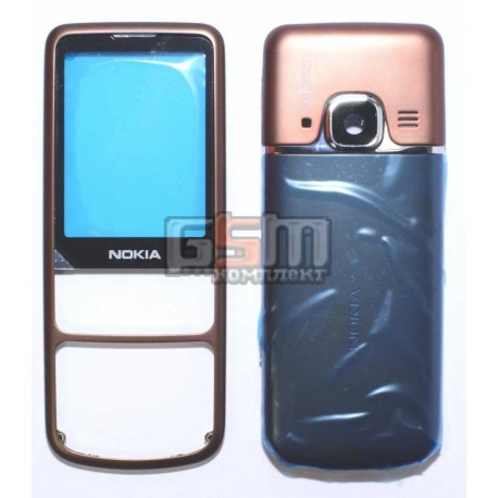 Корпус для Nokia 6700c, кофейный, копия ААА