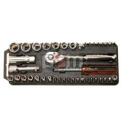 Pro'sKit 8PK-227 набор торцевых головок и насадок-отверток с рукояткой-трещоткойй