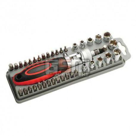 Pro'sKit SD-2309 Набор бит и торцевых головок с регулируемой трещоткой