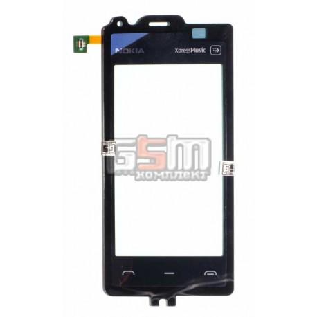 Тачскрин, сенсор для Nokia 5530, оригинал, черный, (02693P3)