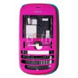Корпус для Nokia 201 Asha, розовый, high-copy