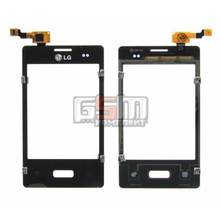 Тачскрин для LG E400 Optimus L3, черный
