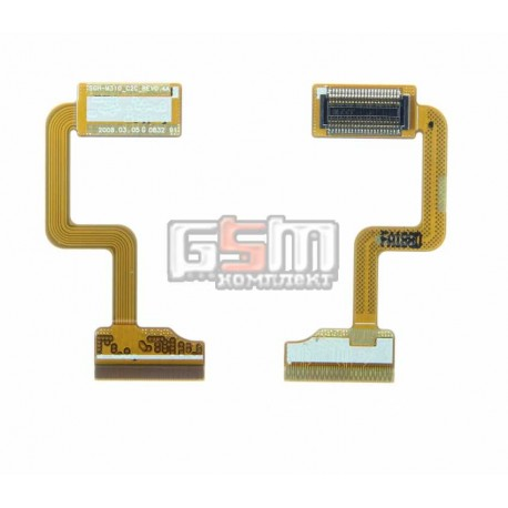 Шлейф для Samsung E1310, оригинал, межплатный, с компонентами, (GH59-06731A)