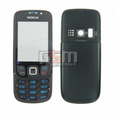 Корпус для Nokia 6303, 6303i, черный, копия ААА, с клавиатурой