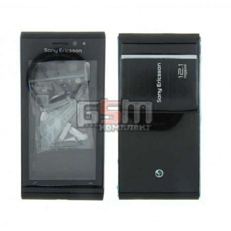 Корпус для Sony Ericsson U1, черный, high-copy