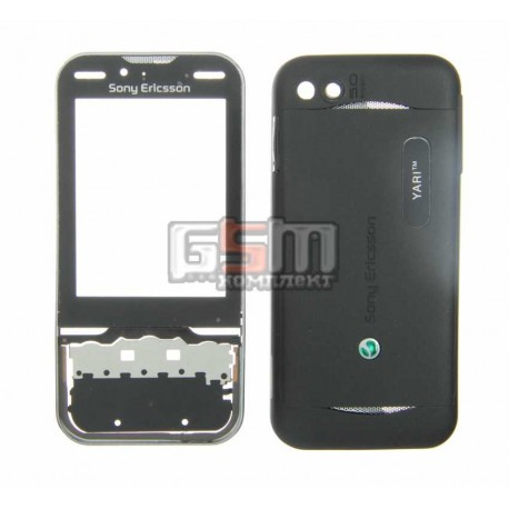 Корпус для Sony Ericsson U100, черный, копия ААА
