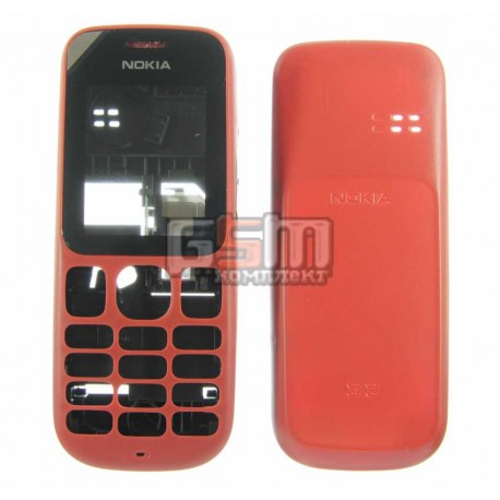 Корпус для Nokia 101, красный, копия ААА