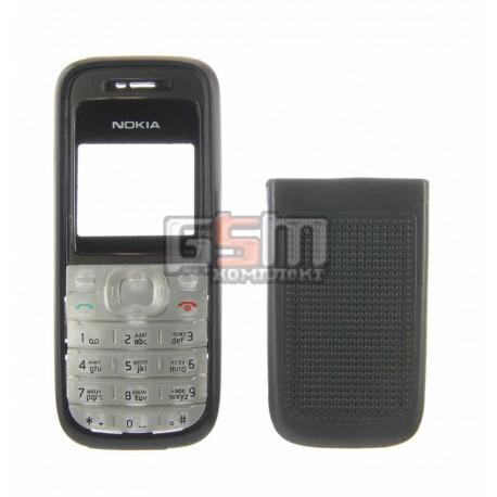 Корпус для Nokia 1200, черный, копия ААА, с клавиатурой, передняя и задняя панель