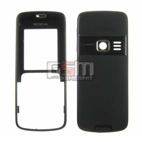 Корпус для Nokia 3110c, черный, high-copy, передняя и задняя панель
