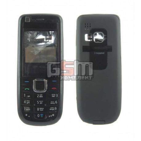 Корпус для Nokia 3120c, копия AAA, черный, с клавиатурой