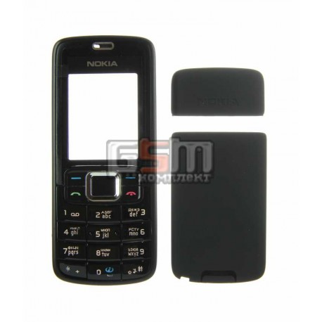Корпус для Nokia 3110c, черный, копия ААА, с клавиатурой, передняя и задняя панель