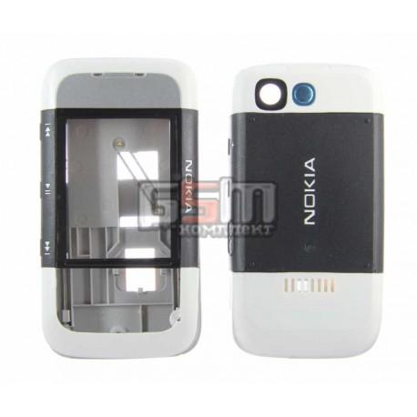 Корпус для Nokia 5300, серый, копия ААА, передняя и задняя панель
