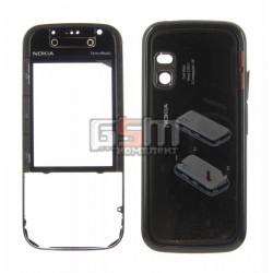 Корпус для Nokia 5730, черный, high-copy
