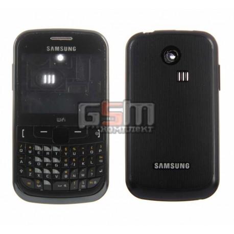 Корпус для Samsung S3350, черный, high-copy