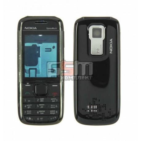 Корпус для Nokia 5130, черный, копия ААА, с клавиатурой