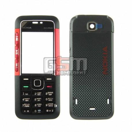 Корпус для Nokia 5310, копия AAA, красный, с клавиатурой