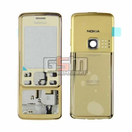Корпус для Nokia 6300, золотистый, high-copy