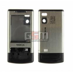 Корпус для Nokia 6500s, копия AAA, серебристый