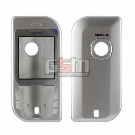 Корпус для Nokia 6670, серебристый, копия ААА