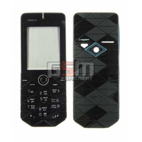 Корпус для Nokia 7500, копия AAA, черный, с клавиатурой