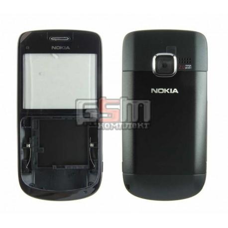 Корпус для Nokia C3-00, черный, high-copy