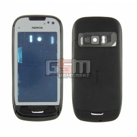 Корпус для Nokia C7-00, черный, копия ААА
