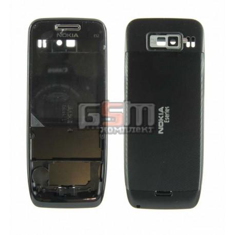 Корпус для Nokia E52, черный, копия ААА