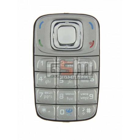 Клавиатура для Nokia 6085, серая, русская