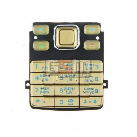 Клавиатура для Nokia 6300, золотистый, русская