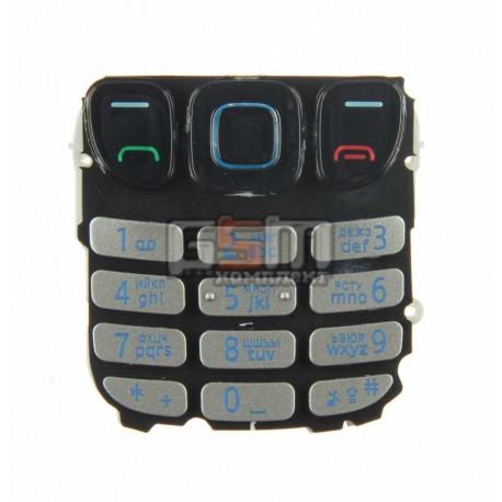 Клавиатура для Nokia 6303, серебристая, русская