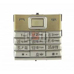 Клавиатура для Nokia 8800 Sirocco, золотистая, русская