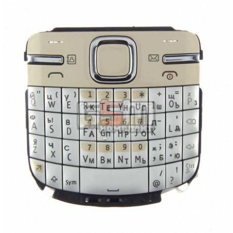 Клавиатура для Nokia C3-00, золотистая, русская