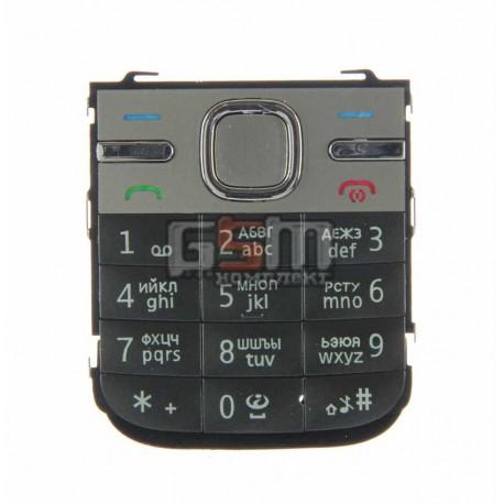 Клавиатура для Nokia C5-00, серая, русская