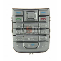Клавиатура для Nokia 6233, серебристая, русская