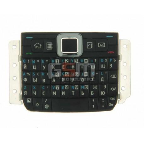 Клавиатура для Nokia E71, черная, русская