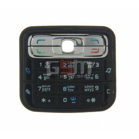 Клавиатура для Nokia N73, черная, русская