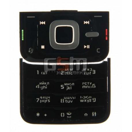 Клавиатура для Nokia N81, черная, русская, верхняя, нижняя