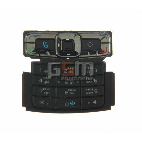 Клавиатура для Nokia N95 8Gb, черная, русская