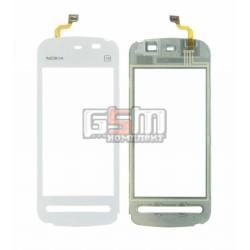 Тачскрин для Nokia 5228, 5230, 5233, 5235, белый, copy