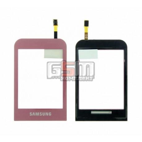 Тачскрин для Samsung C3300, розовый