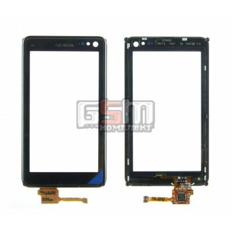 Тачскрин для Nokia N8-00, черный, с рамкой