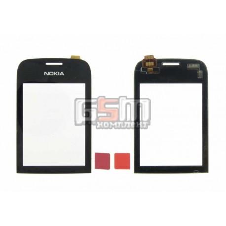 Тачскрин для Nokia 202 Asha, черный