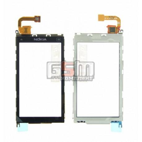Тачскрин для Nokia X6-00, черный, с рамкой