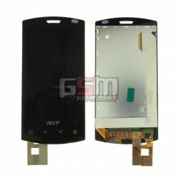 Дисплей для Acer S100, черный, с тачскрином, модуль