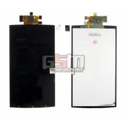 Дисплей для Sony Ericsson LT15i, LT18i, X12, черный, с сенсорным экраном (дисплейный модуль)